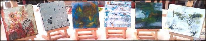 Group encaustic shot