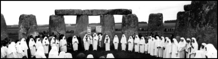 druids in Stonehenge, 1970